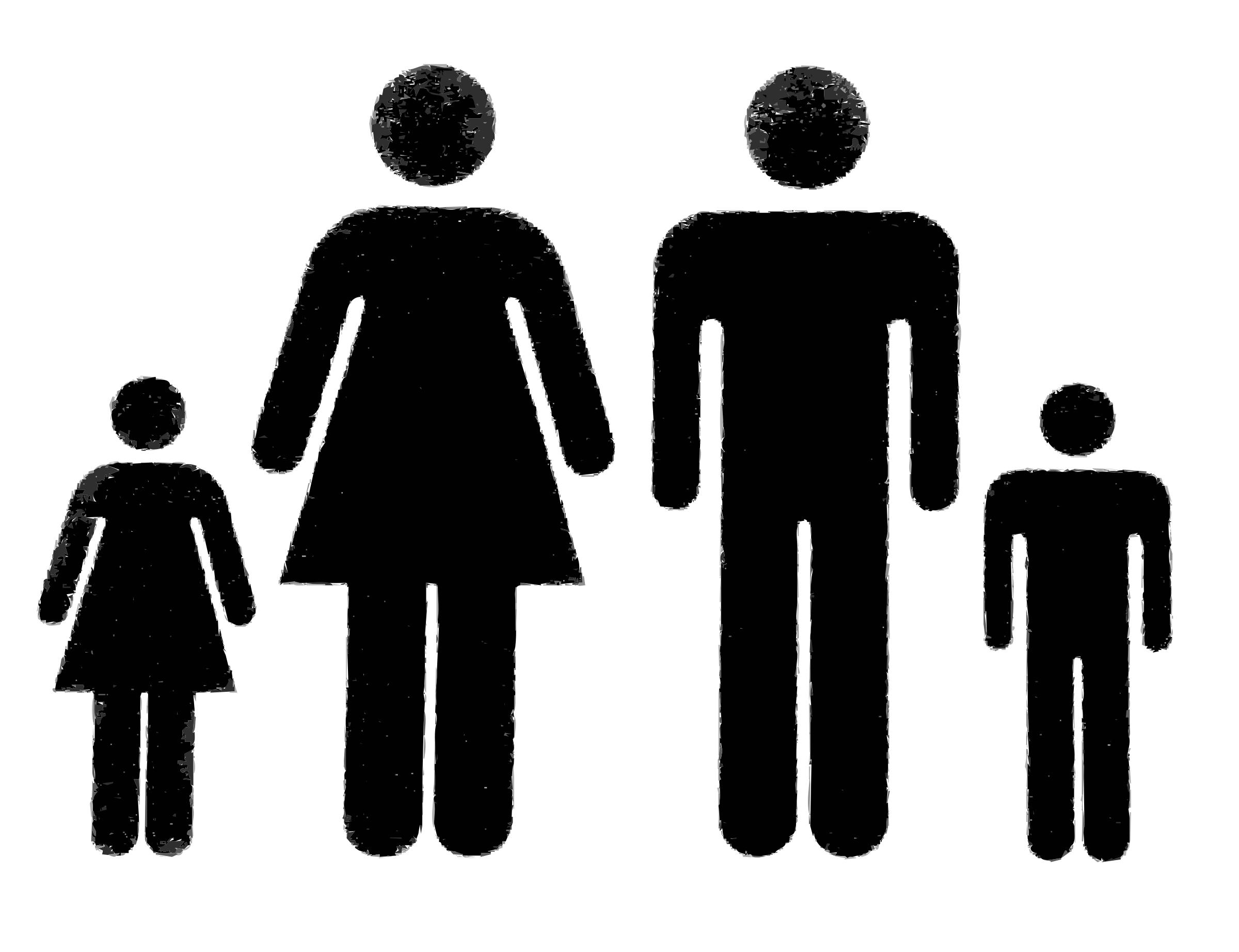 2400x1844 Family Of People Vector Clipart Image