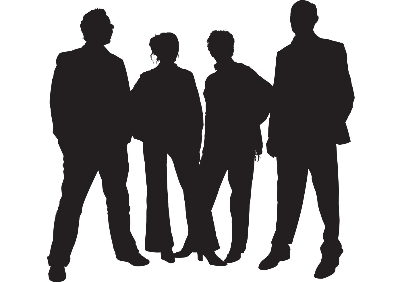 1400x980 Family People Silhouettes