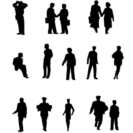456x456 Free People Vector Silhouettes.ai Clipart And Vector Graphics