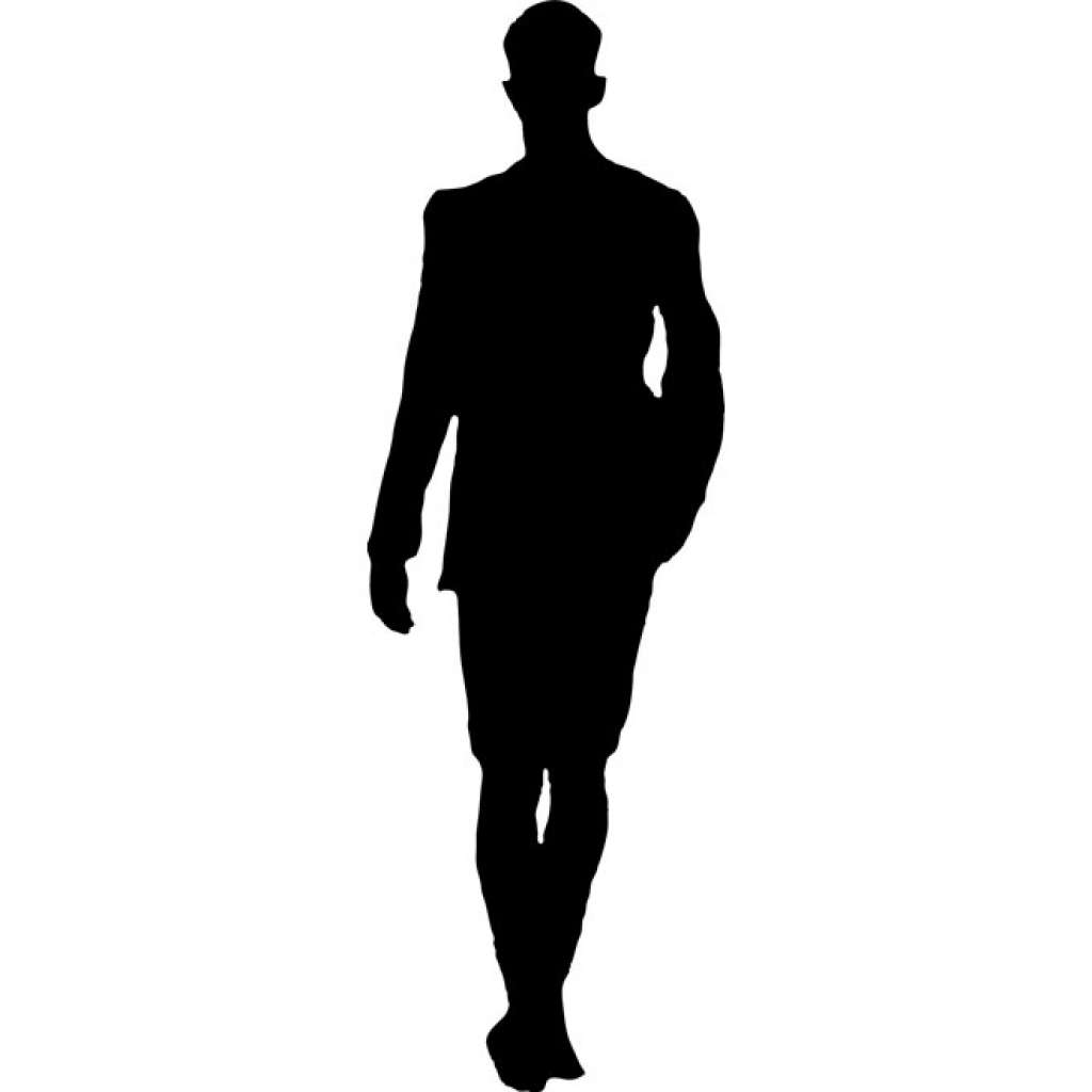 1024x1024 People Walking Silhouette Vector Free Awesome Man Walking Vector