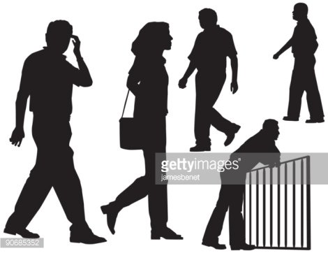470x362 Random People Walking (Vector) Premium Clipart
