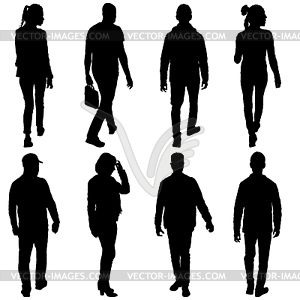 300x300 Set Silhouette Of People Walking