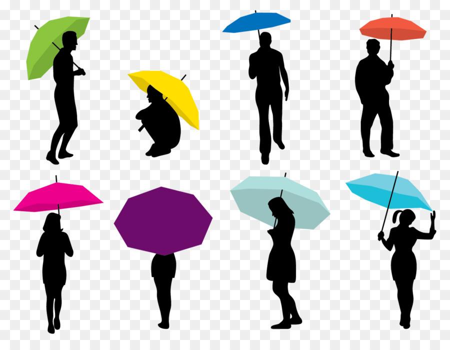 900x700 Silhouette Umbrella Woman