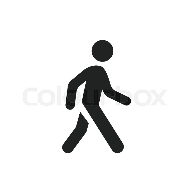 800x800 Walking Man Vector Icon. People Walk Sign Illustration. Stock