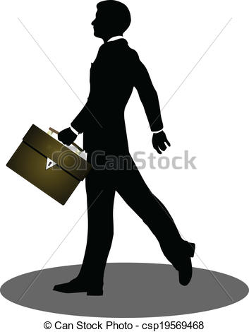 353x470 Eps 10 Vector Illustration Of Business People Walking With