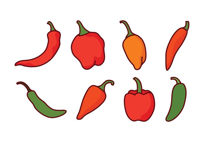 700x490 Chili Peppers Vector Pack