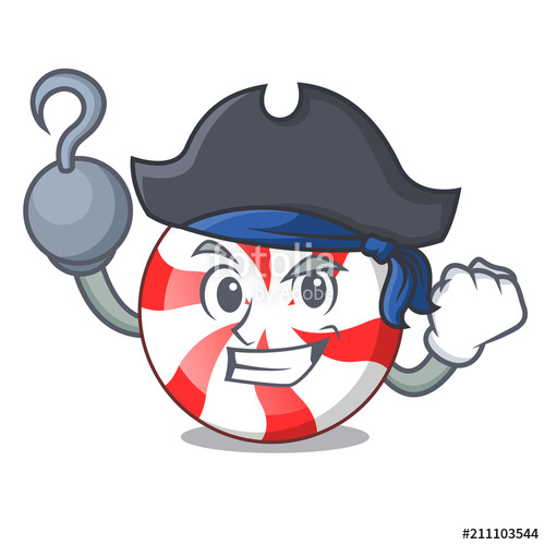500x500 Pirate Peppermint Candy Character Cartoon Stock Image And Royalty