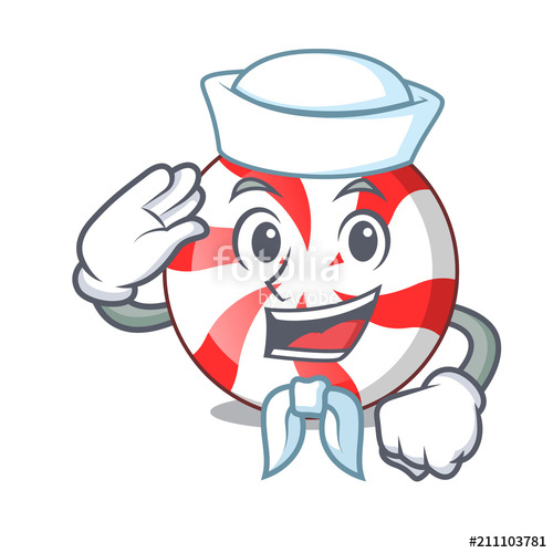 500x500 Sailor Peppermint Candy Character Cartoon Stock Image And Royalty
