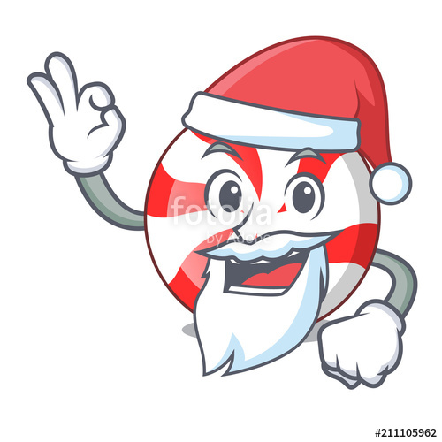 500x500 Santa Peppermint Candy Mascot Cartoon Stock Image And Royalty
