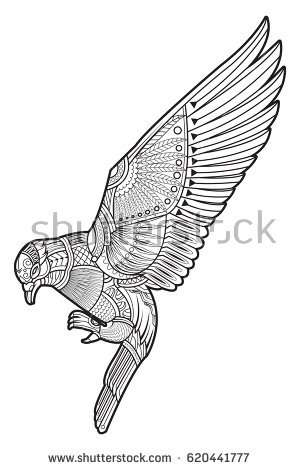 300x470 How To Draw A Peregrine Falcon New Drawing Dove Pigeon Coloring