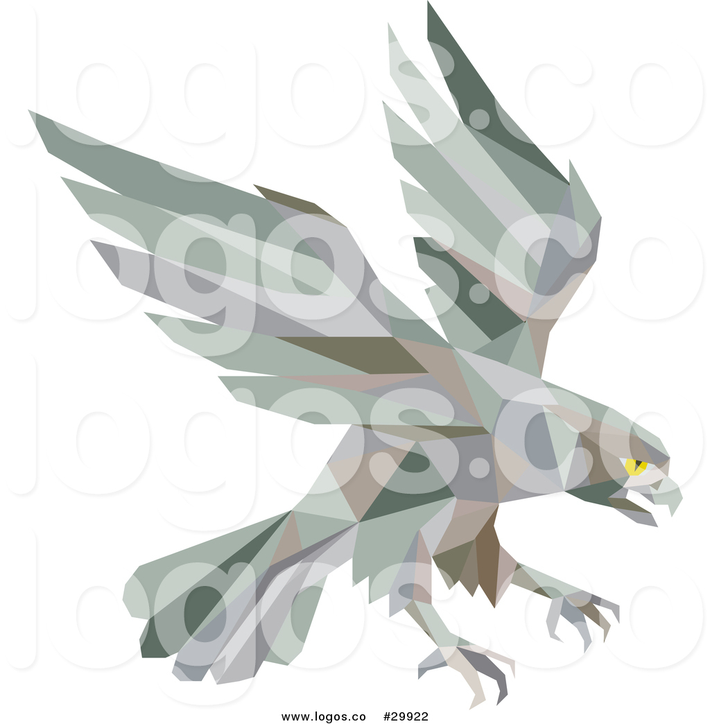 1024x1044 Royalty Free Vector Logo Of A Retro Geometric Peregrine Falcon