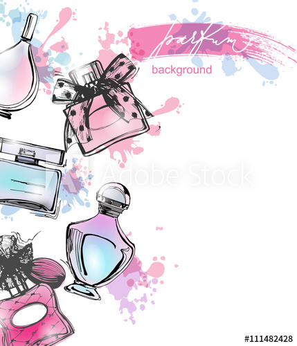 429x500 Perfume.cosmetics And Fashion Background With Beautiful Bottles Of