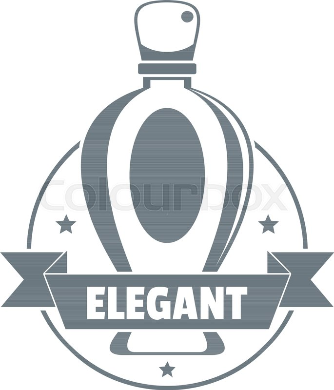 685x800 Elegant Perfume Logo. Vintage Illustration Of Elegant Perfume