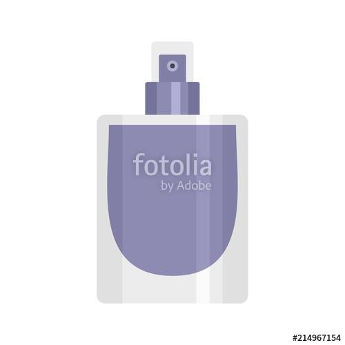 500x500 Fashion Perfume Icon. Flat Illustration Of Fashion Perfume Vector