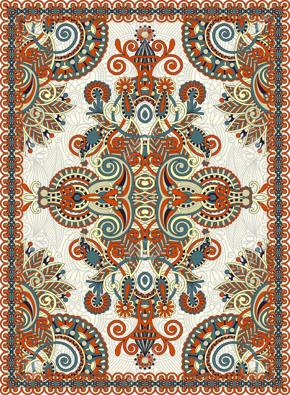 953x1300 Persian Carpet Design Vector