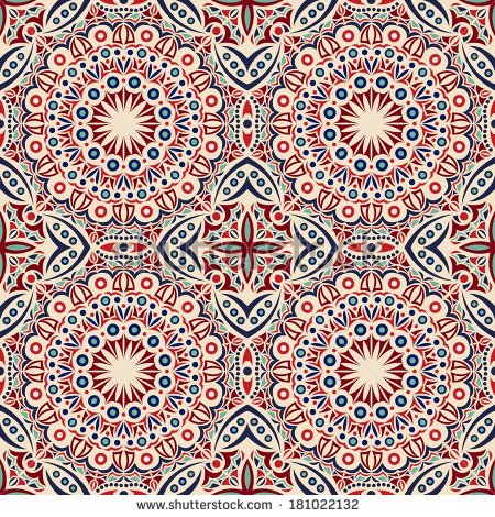450x470 Persian Carpet Patterns Vector