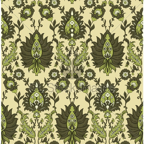 500x500 Persian Floral Vector Seamless Pattern Gl Stock Images
