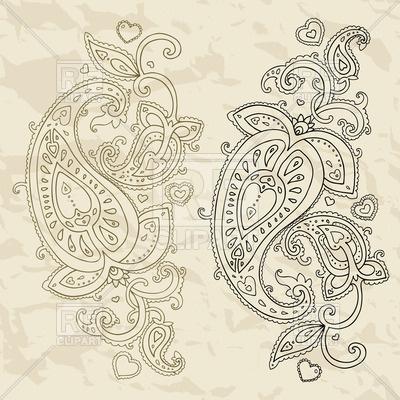 400x400 Persian Ornament Paisley Vector Image Vector Artwork Of Design