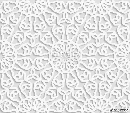 500x434 Seamless Arabic Geometric Pattern, East Ornament, Indian Ornament