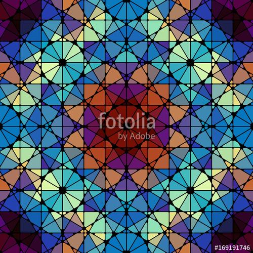 500x500 Seamless Arabic Geometric Pattern. Vector Traditional Muslim