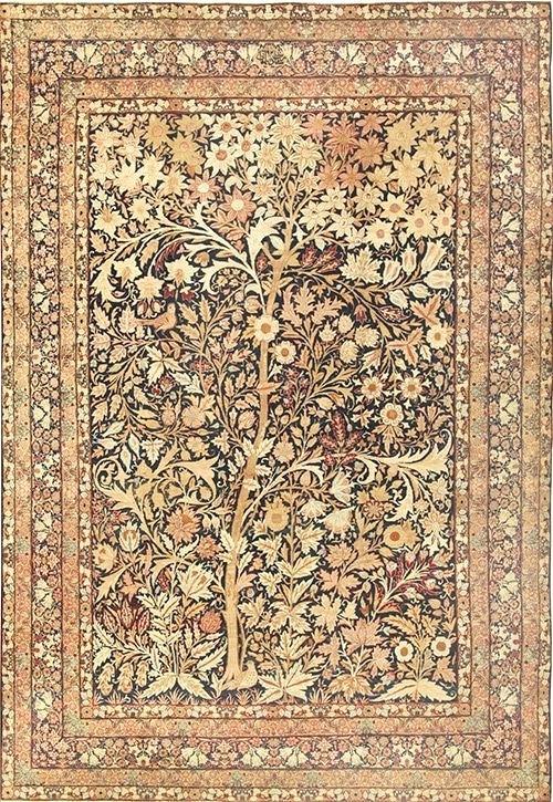 500x725 Persian Design Tree Of Life Design Rug Floral Design Persian Rugs