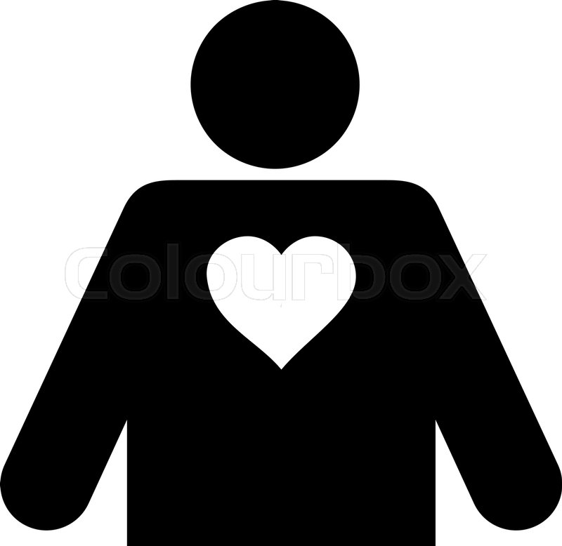 800x778 Lover Person Flat Icon. Vector Black Symbol. Pictogram Is Isolated