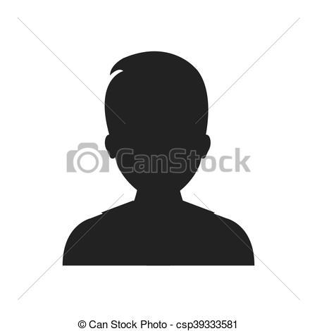 450x470 Man Male Avatar Silhouette Person Icon. Vector Graphic. Man Male