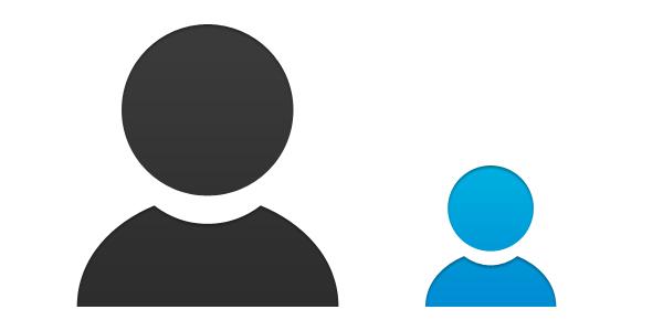 600x300 Person Icon Vector Psd Psd Icons