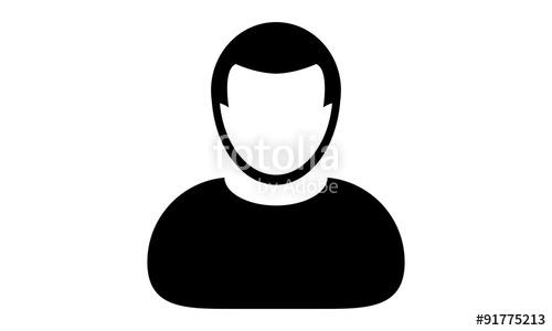 500x300 Person Icon Vector User Profile Avatar Flat Color In Glyph