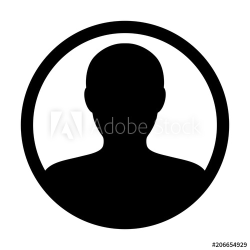 500x500 Person Icon Vector Male User Profile Avatar Symbol In Circle Flat