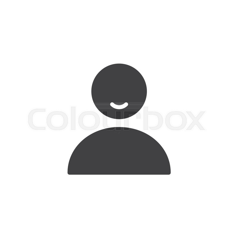800x800 User Person Icon Vector, Filled Flat Sign, Solid Pictogram