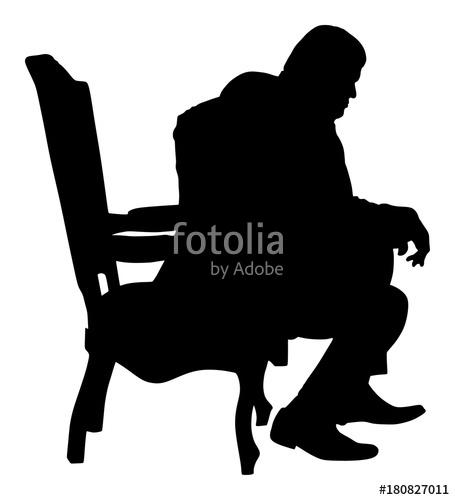 455x500 Confident Leader, Big Mafia Boss. Businessman Sitting On Work