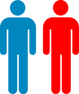 255x300 Blue And Red Person Symbol Clip Art