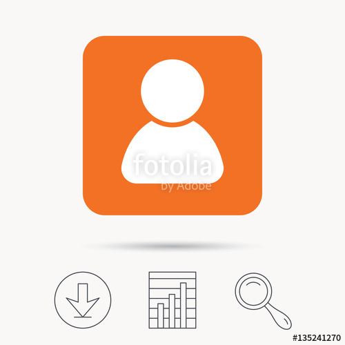 500x500 User Icon. Human Person Symbol. Avatar Login Sign. Report Chart