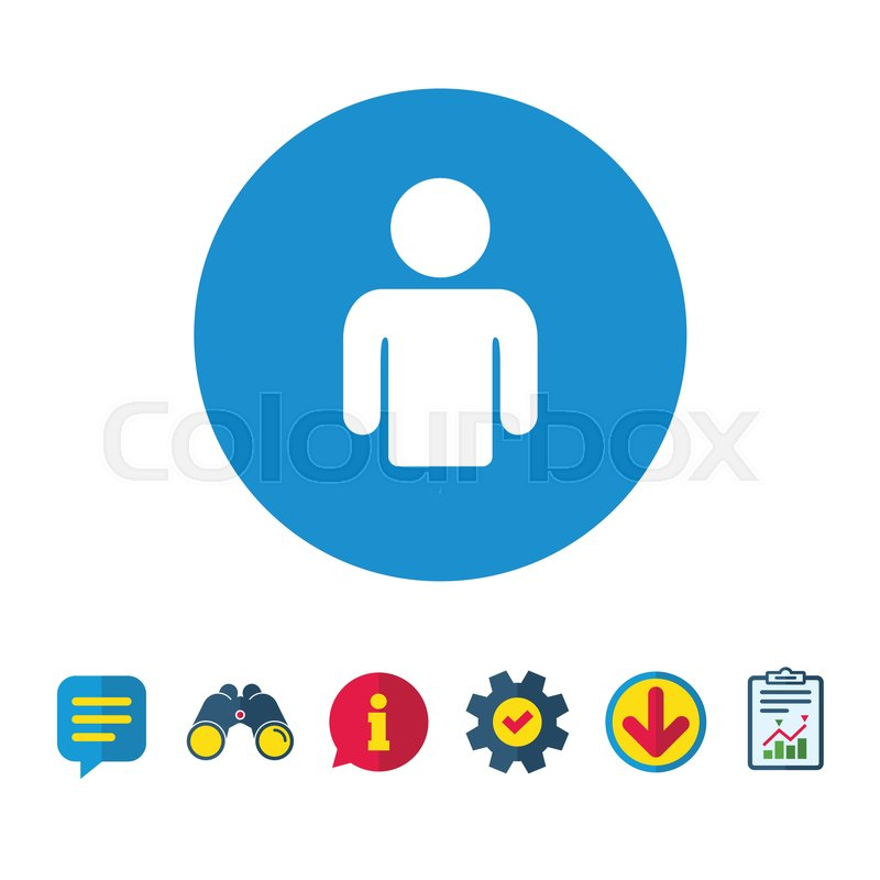 800x800 User Sign Icon. Person Symbol. Human Avatar. Information, Report