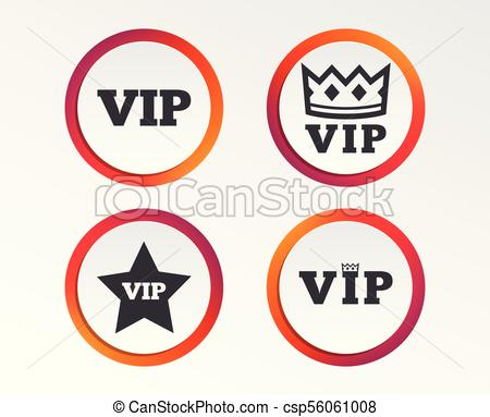 450x383 Vip Icons. Very Important Person Symbols. King Crown And Star