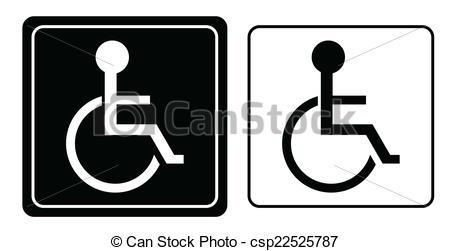 450x251 Handicap Or Wheelchair Person Symbol, Vector.