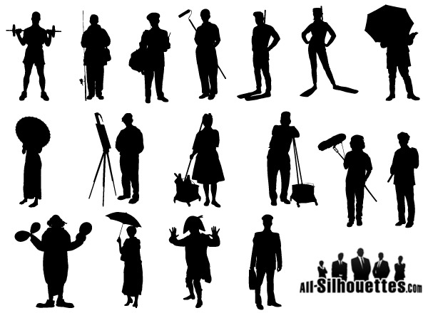 600x440 Free Working People Silhouette Vector Free Psd Files, Vectors