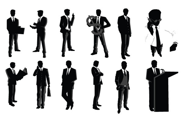 600x400 Best Of, Free Vector Business People Silhouette Packs