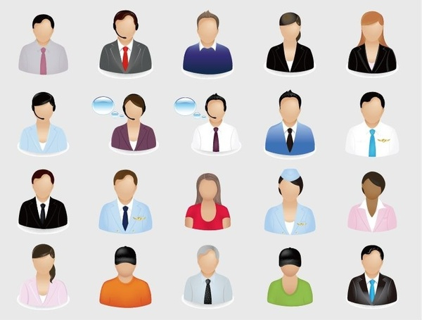 600x455 Business People Vector Icon Set Free Vector In Encapsulated
