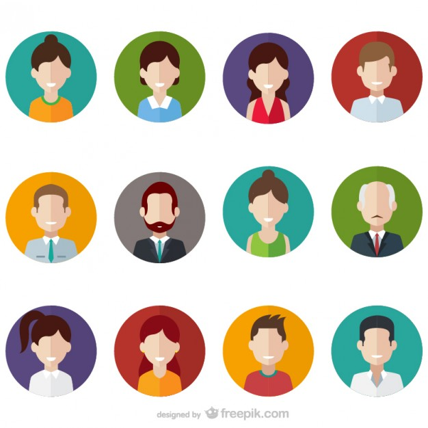 626x626 People Avatars Vector Free Download