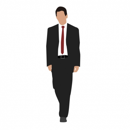 425x425 Corporate Man Walking Vector Free Vector Download In .ai, .eps