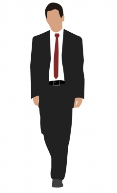240x395 Corporate Man Walking Vector Ai,eps Format Free Vector Download