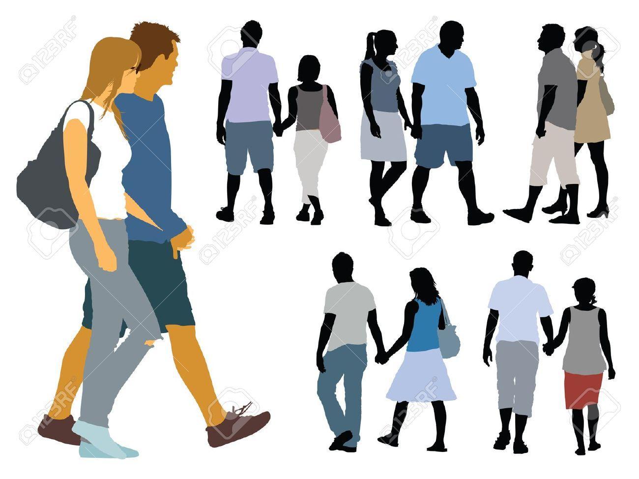 1300x974 Crowd Of People Walking Silhouette. Latest People Walking Black