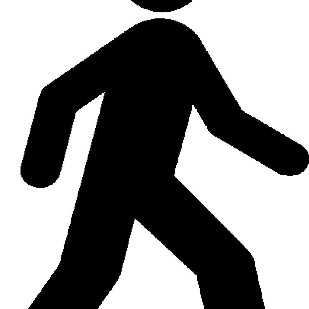 1024x1024 Person Walking Clipart Man Black Clip Art At Clker Vector Online