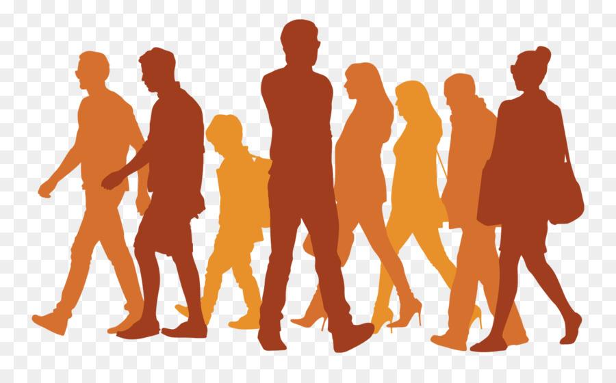 900x560 Silhouette Walking Icon