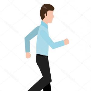 300x300 Stock Illustration Avatar Business Man Walking Vector Lazttweet