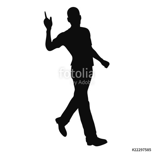 500x500 Walking Man Silhouette. Stock Image And Royalty Free Vector Files