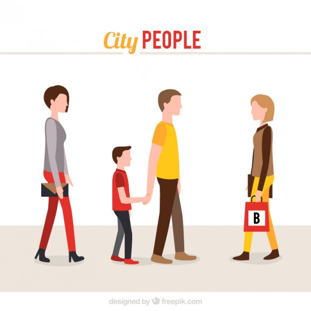 626x626 City People Collection Vector Free Download