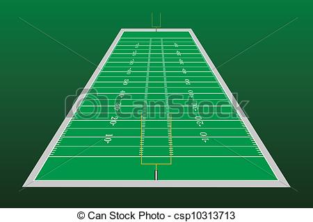450x320 Football Field Perspective. Illustration Of A Football Field With